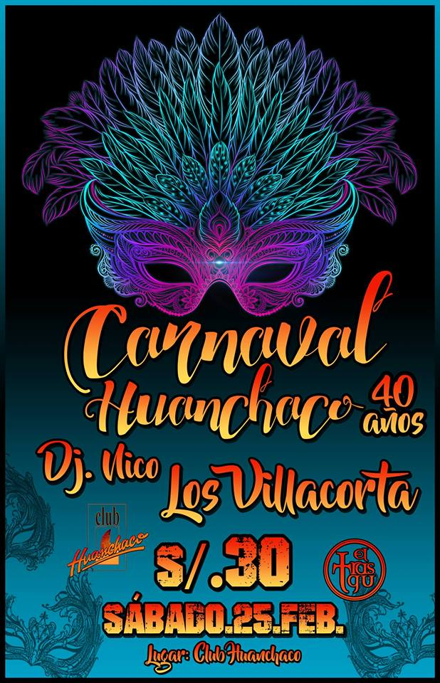Diseño de banner del Carnaval Huanchaquero