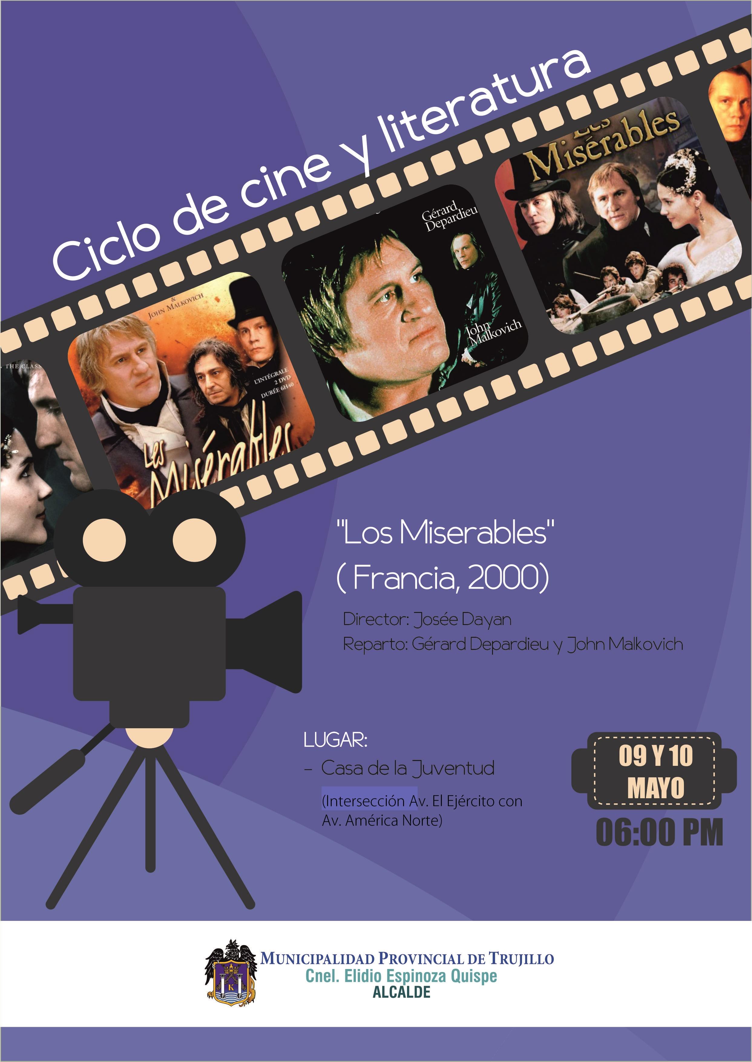 Ciclo de cine y literatura MPT
