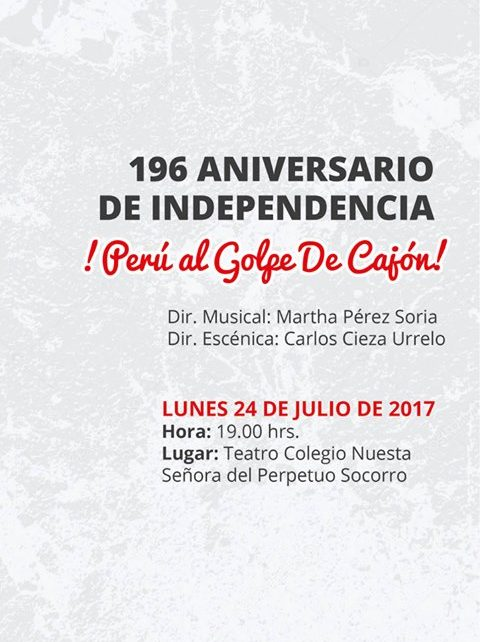 "Compañía de Ópera presenta ""Perú a Golpe de Cajón"""