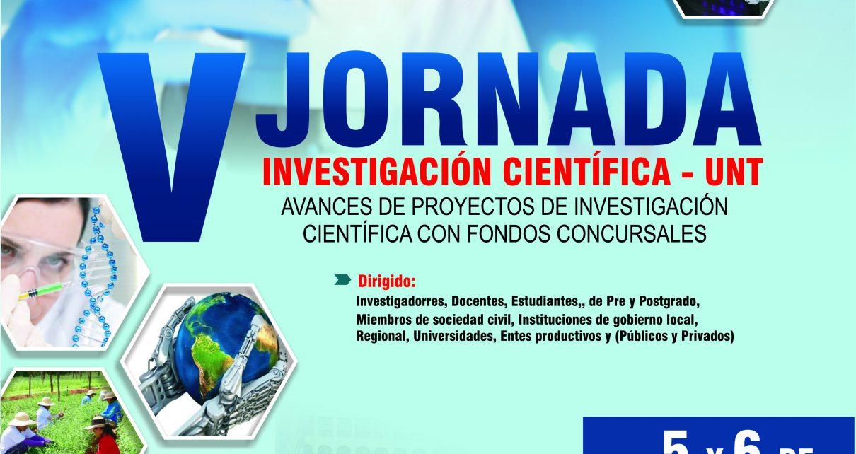 V Jornada de Investigación Científica UNT