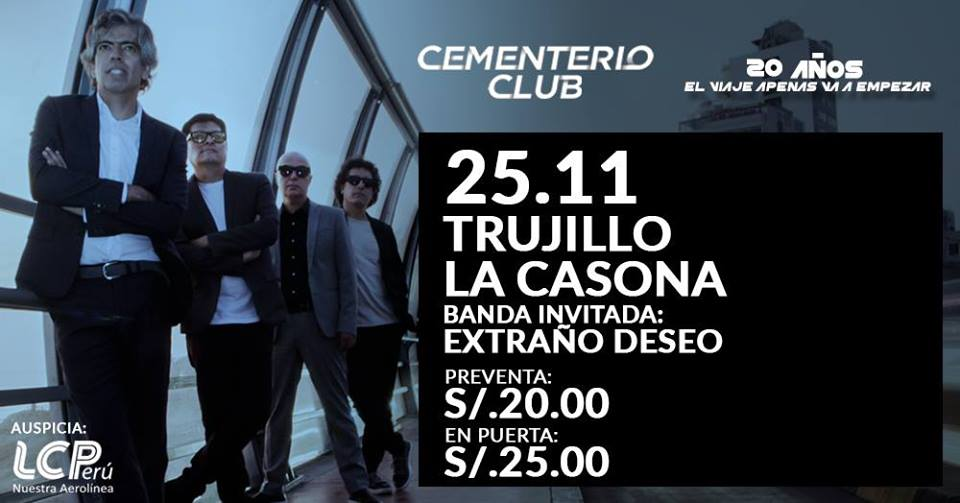 Cementerio Club vuelve a Trujillo para ofrecer concierto íntimo