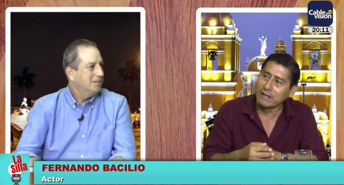 actor Fernando Bacilio con Luis Quintanilla