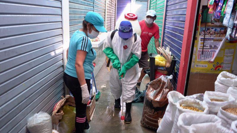 Desinfección mercados de Trujillo