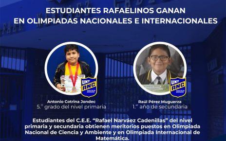 Estudiantes del colegio Rafael Narváez