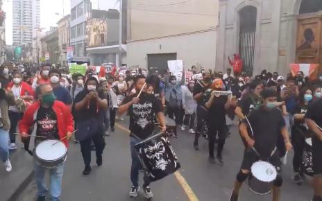 Marcha en Trujillo