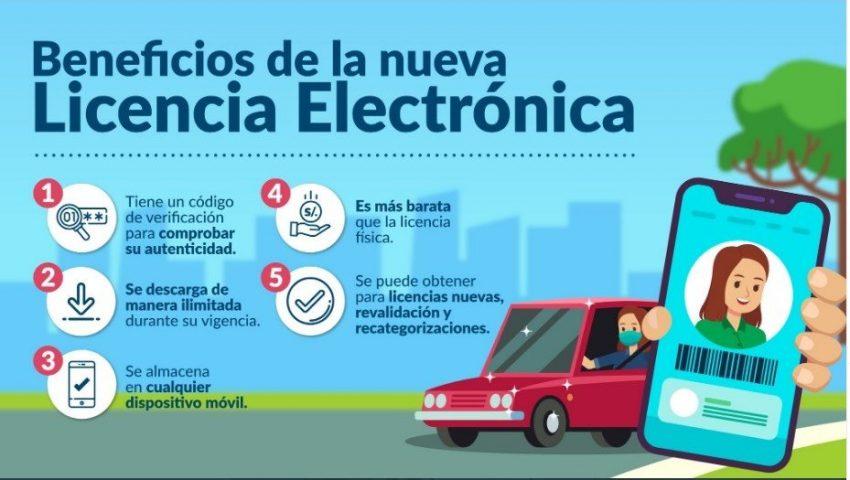 licencia de conducir electrónica peru