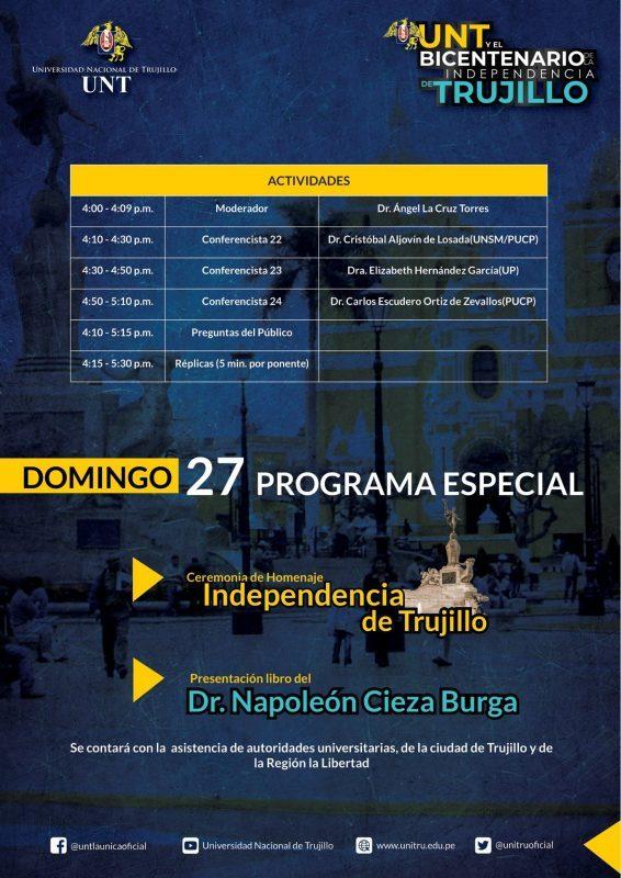 programa UNT Bicentenario Trujillo