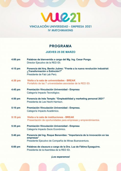 programa Matchmaking Universidad - Empresa VUE 2021