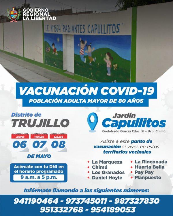 vacunación Covid-19 en Trujillo